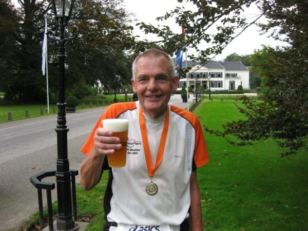 Gijs Honing, de nummer 3 van de 100 Marathon Club Nederland, met 468 Marathons.