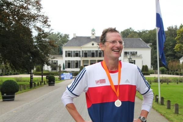 Wim Hogentoren, de nummer 32 van de 100 Marathon Club Nederland, met 123 Marathons.