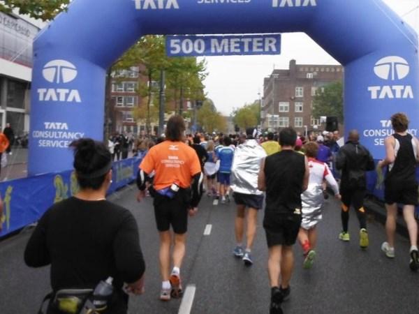 22 Die eerste 500 meter vielen reuze mee