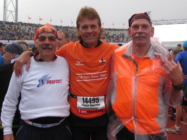 9 Ook Alex Wijsman, die snelwandelen tot kunst verheven heeft, een Bosbaan Marathon veteraan, was van de partij