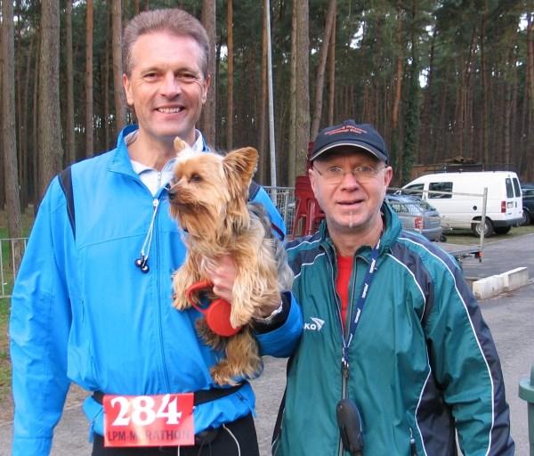 3 3 2008 Brutus ontmoet organisator Micha Havreluk
