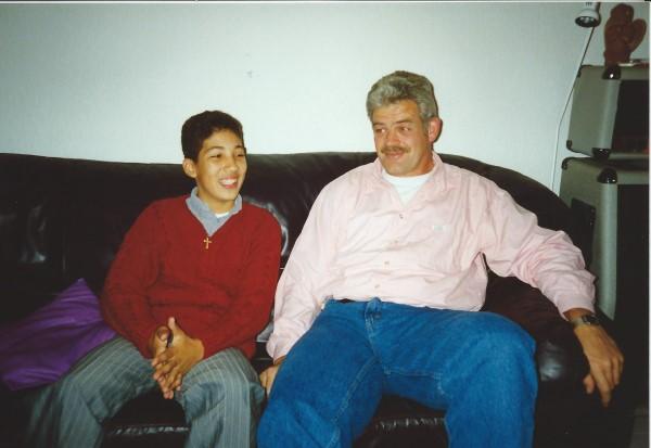 Ed Soriano naast oom Kees