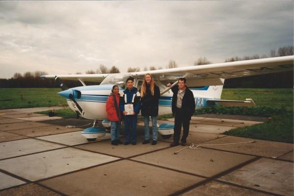 Ed Soriano zijn eerste vlucht in een sportvliegtuig