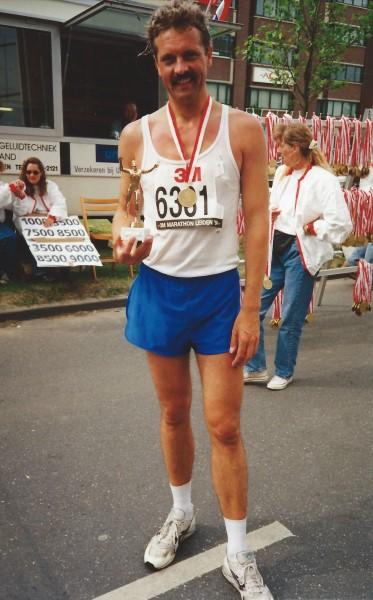 Voor mijn 10de Marathon kreeg ik een standaard van het thuisfront