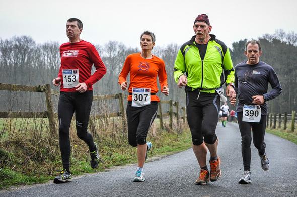 2012, 6 januari, Kevelaer Marathon, Rudy van der Heijden, Lianne van Avevan Avesaath, Willem Muetze, Toon van Vlimmeren