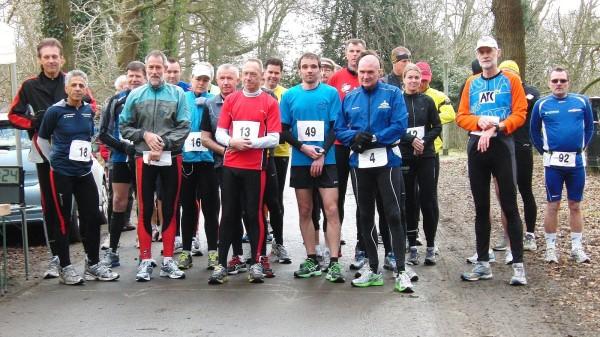 2012, 25 februari, Puntbrug Marathon Glimmen, Francis Spoelsra, Mo Idrissie, Lex de Boer, Mirjam Steunebrink Sjoerd Slaaf, Simon Visser, Nico Modderkolk, Lydia Doorbos