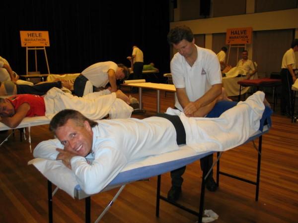 Massage na afloop