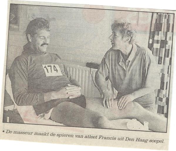 De foto van de massage zou het Dagblad van Almere halen :-)