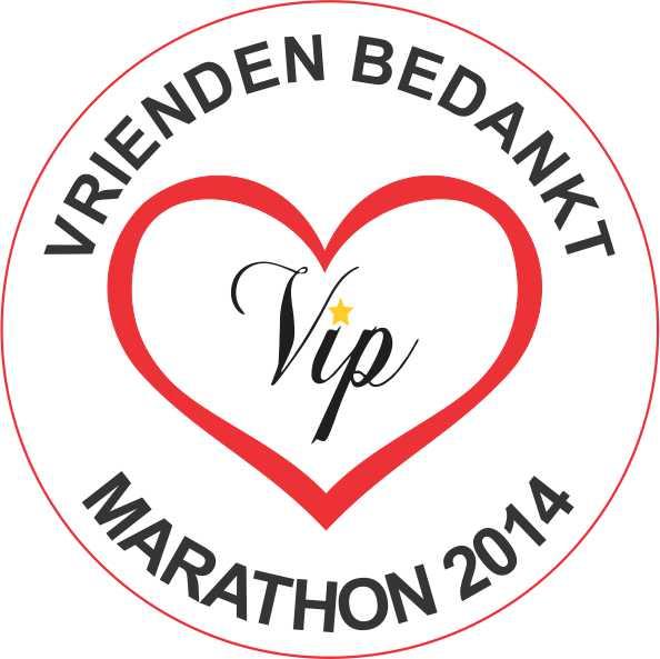 2014, 24 mei, Vrienden Bedank Marathon, logo