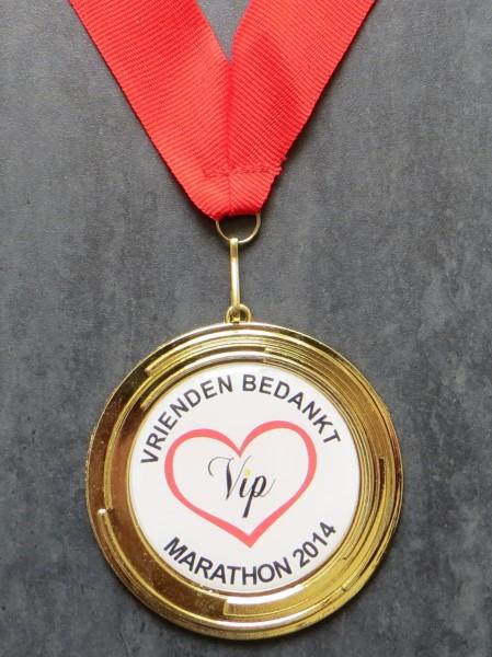 De Vrienden Bedankt Marathon medaille