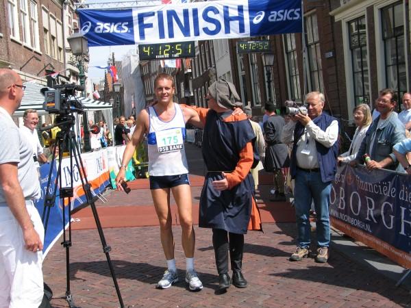 Hoorn Marathon finish