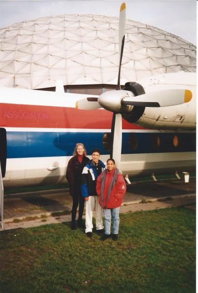Ed Soriano bij het Aviodome Schiphol