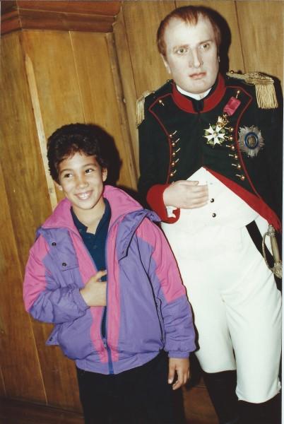 Ed Soriano met Napoleon bij Madame Tussouds in Amsterdam
