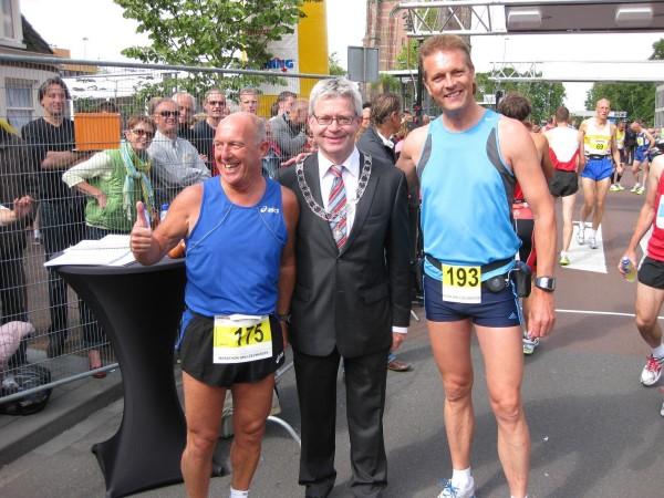 Ben Mol, Burgemeester van Leeuwarden Ferd Crone, Francis Spoelstra