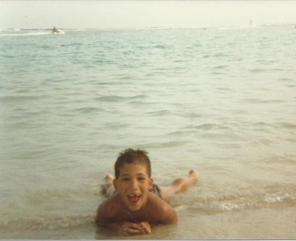 Eduardo Soriano op het strand in Santo Domingo