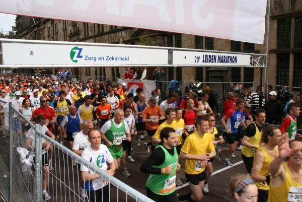 Leiden Marathon start