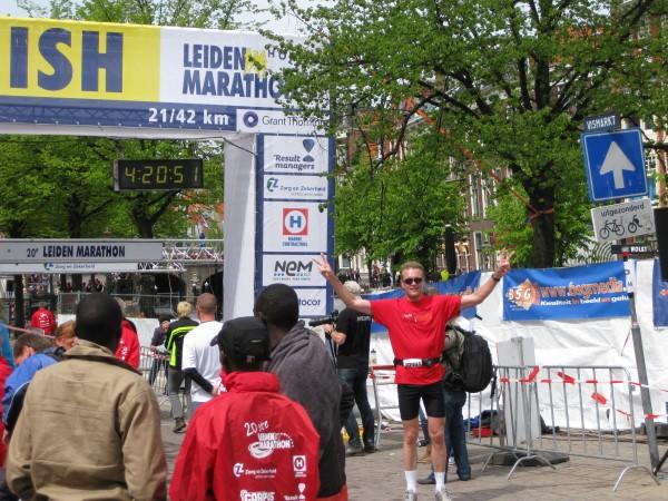 Leiden Marathon finish