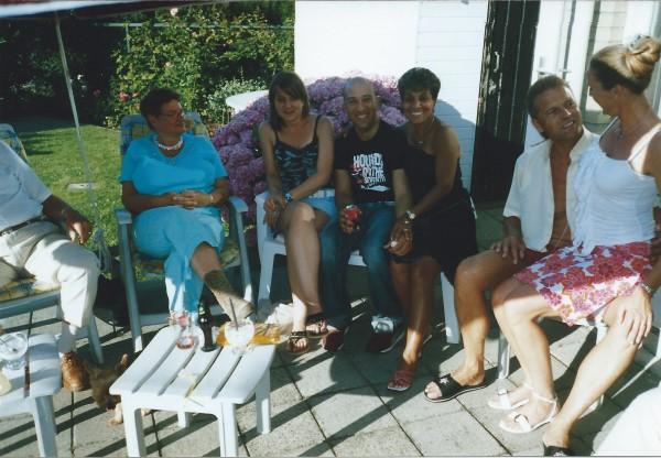 Ed Soriano met zijn vriendin in Leiden, zomer 2003