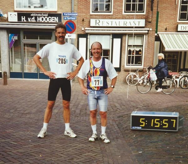 Eenmeerloop 50km, finish, met Ben Mol