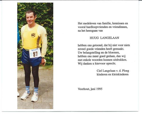 Huug Langelaan overleden op 18 april 1995