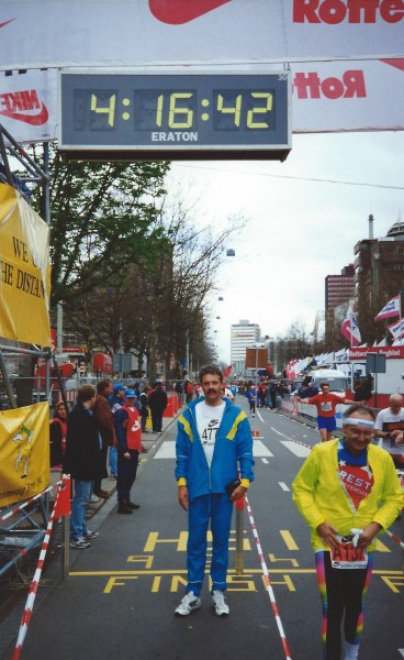 Rotterdam Marathon 1994, 17 april, finish