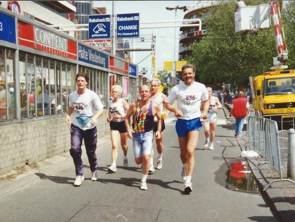 Utrecht Marathon 1994, 15 mei met Ben