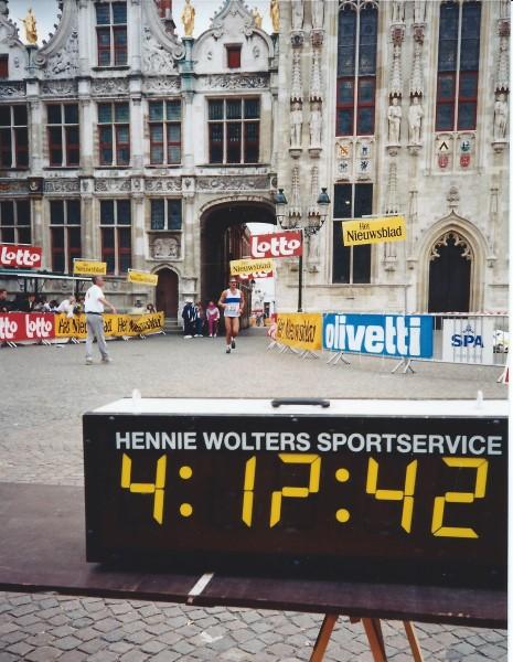 Gulden Sporen Marathon finish